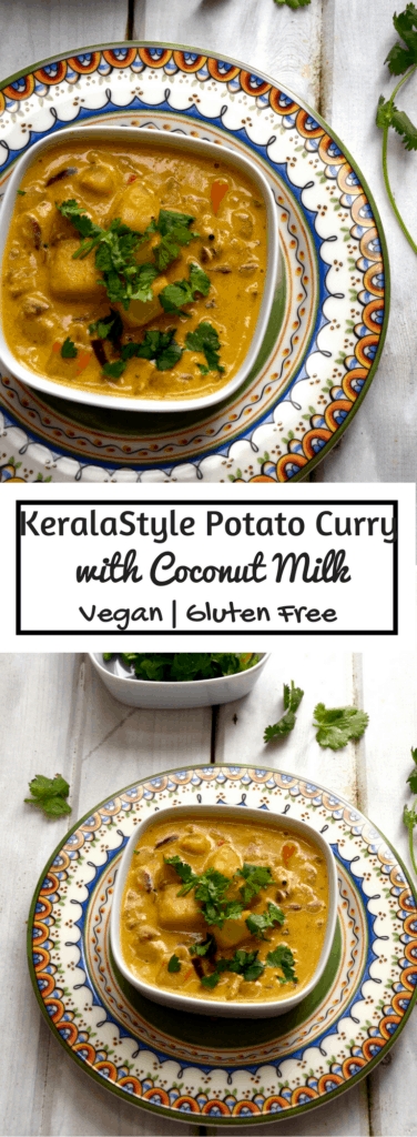 Kerala Style Potato Curry with Coconut Milk - Vegan | Gluten Free