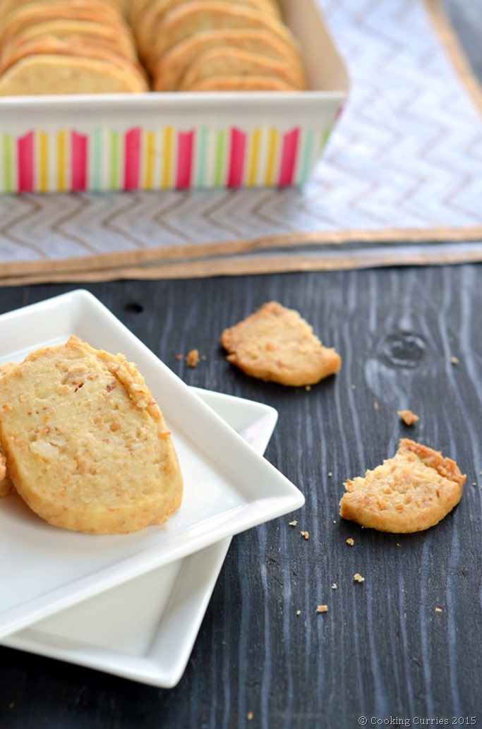 Coconut Orange Macadamia Shortbread Cookies - Mirch Masala