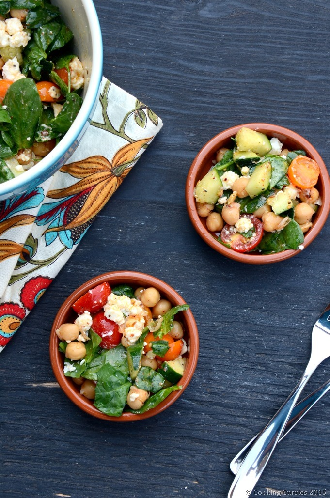 Harissa Marinated Chickpea Salad with Lemon and Feta - Cooking Curries - Vegetarian Salad Recipe (2)