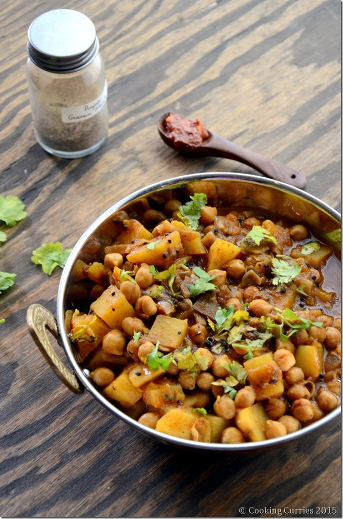 Achari Aloo Chole - Potatoa dn Garbanzo Bean Curry with Pickling Spices - Mirch Masala (3)