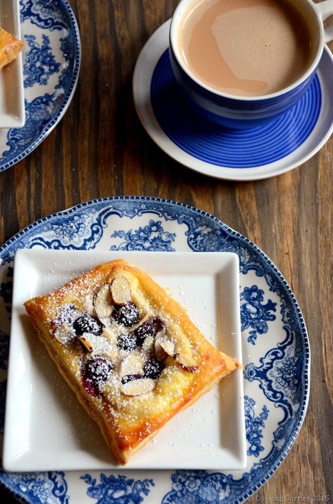 Almond Lemon Blueberry Cream Cheese Danish - Mirch Masala