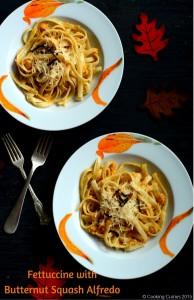 Fettuccine with Butternut Squash Alfredo   A Fall Recipe