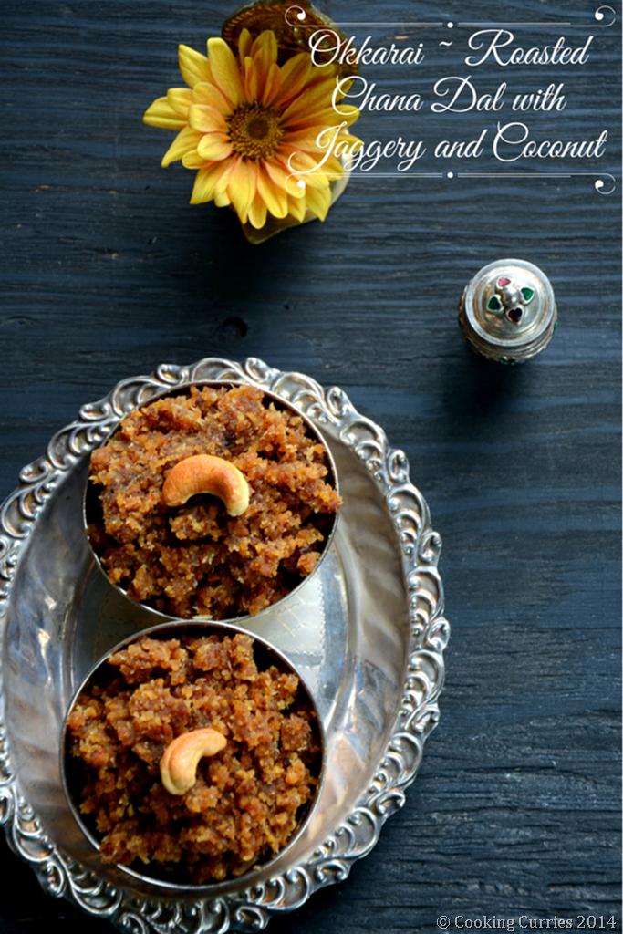 Okkarai - Roasted Chana Dal with Jaggery and Coconut - Diwali Recipe - Mirch Masala