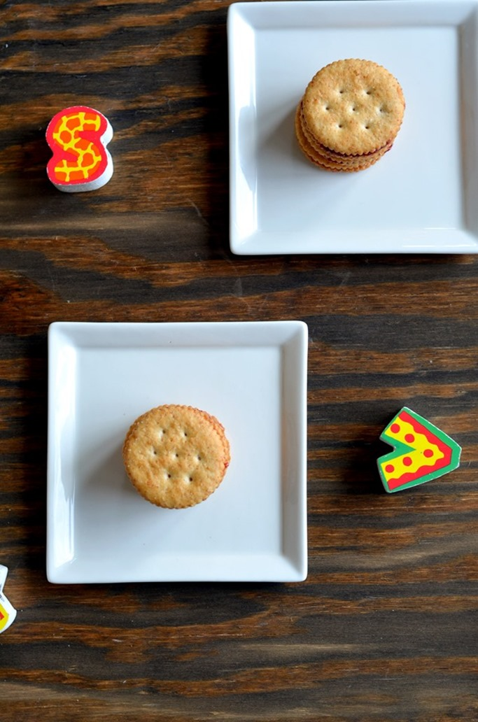 PBJ Cracker Sandwiches - Little People Food - Toddler Food - Kids Recipes - Mirch Masala (2)