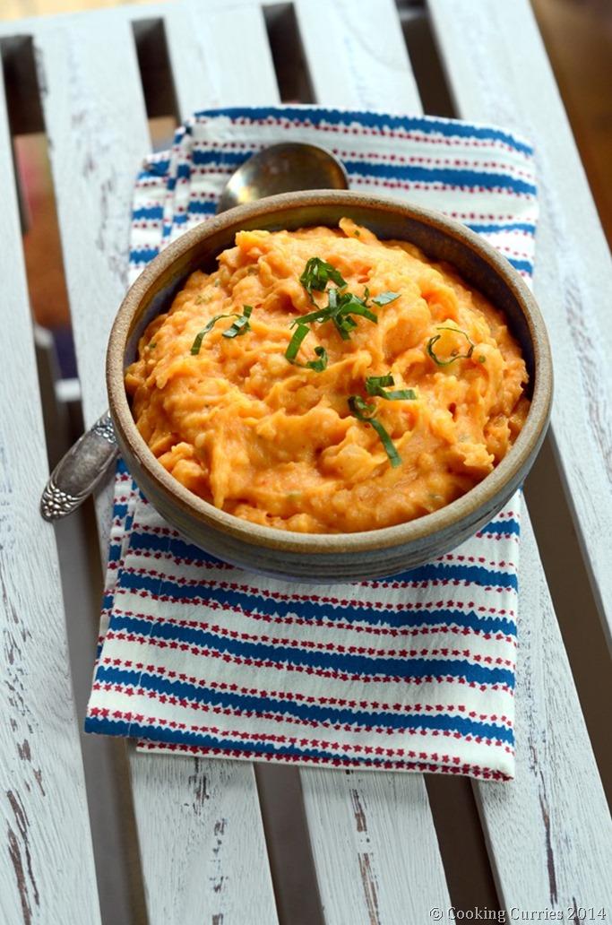 Red Curry Mashed Potatoes - Thanksgiving Sides - Vegan Vegetarian Glutenfree - Mirch Masala