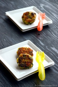 Spinach Rice and Corn Patties