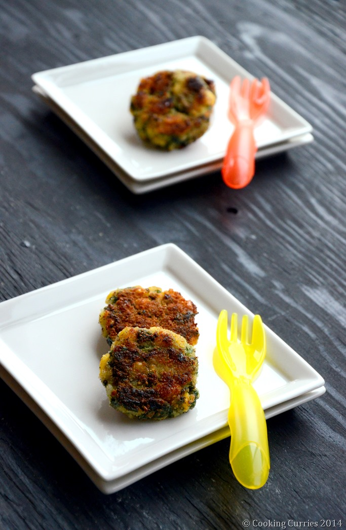 Spinach, Rice and Corn Patties - Mirch Masala - Toddler Food Recipe (2)