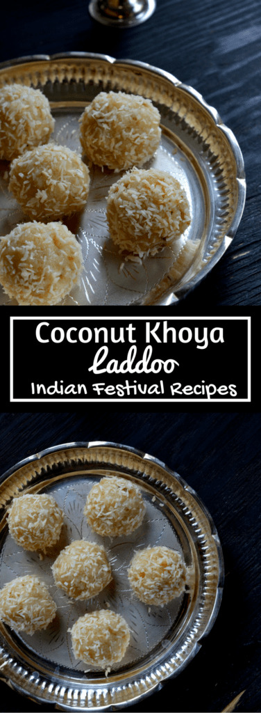 Coconut Khoya Laddoo- Coconut Condensed Milk Solids Balls - Indian Food, Recipe, Dessert, Festivals, Diwali, Diwali Sweet recipe - Cooking Curries - www.cookingcurries.com
