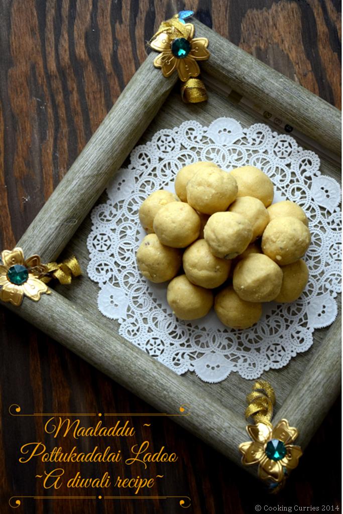 Maaladdu Maladu Maa Laddo Pottukadalai Laddoo - Diwali Recipe - Mirch Masala