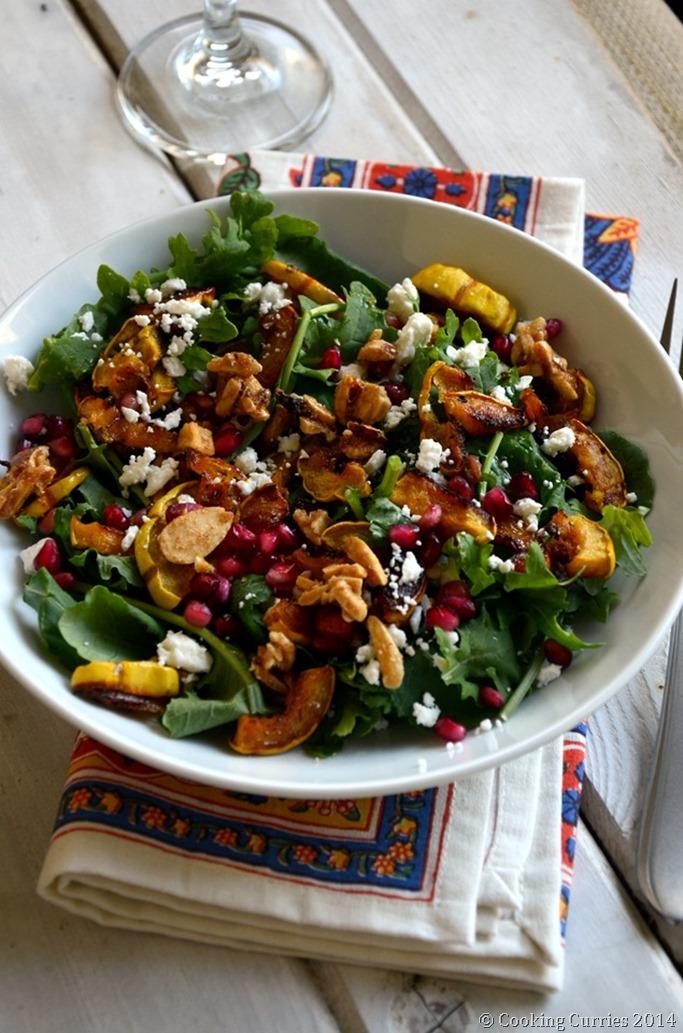 Roasted Squash and Kale Salad - Fall Thanksgiving Salad Recipe - Mirch Masala (2)