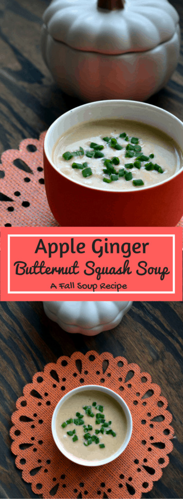 Apple Ginger Butternut Squash Soup - a fall recipe