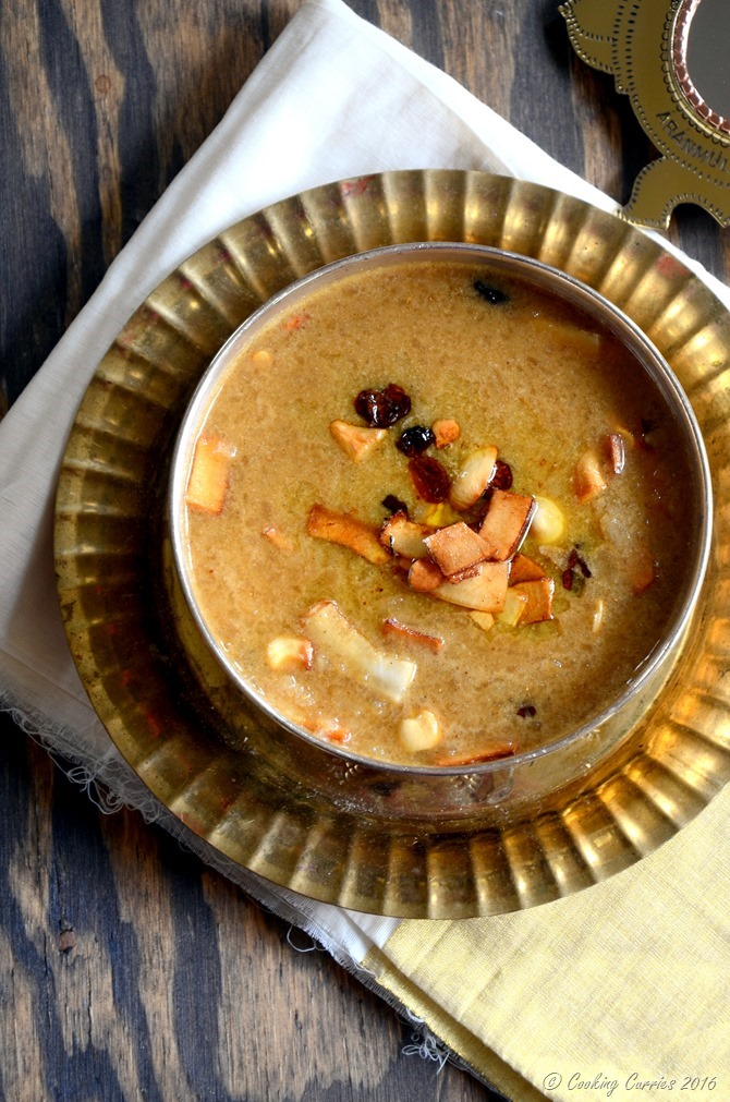 Aval Payasam ~ Beaten Brown Rice (Poha) Pudding with Jaggery and Coconut Milk - Cooking Curries - Kerala Sadya Recipes Vishu Onam (3)