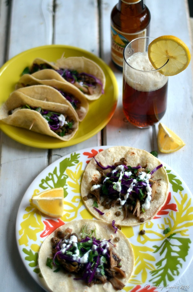 Green Lentils and Maitake Mushrooms Tacos - Gluten Free, Vegetarian - Cooking Curries (3)