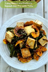 Long Beans and Delicata Squash Stir Fry with Tofu - Vegan | Gluten Free