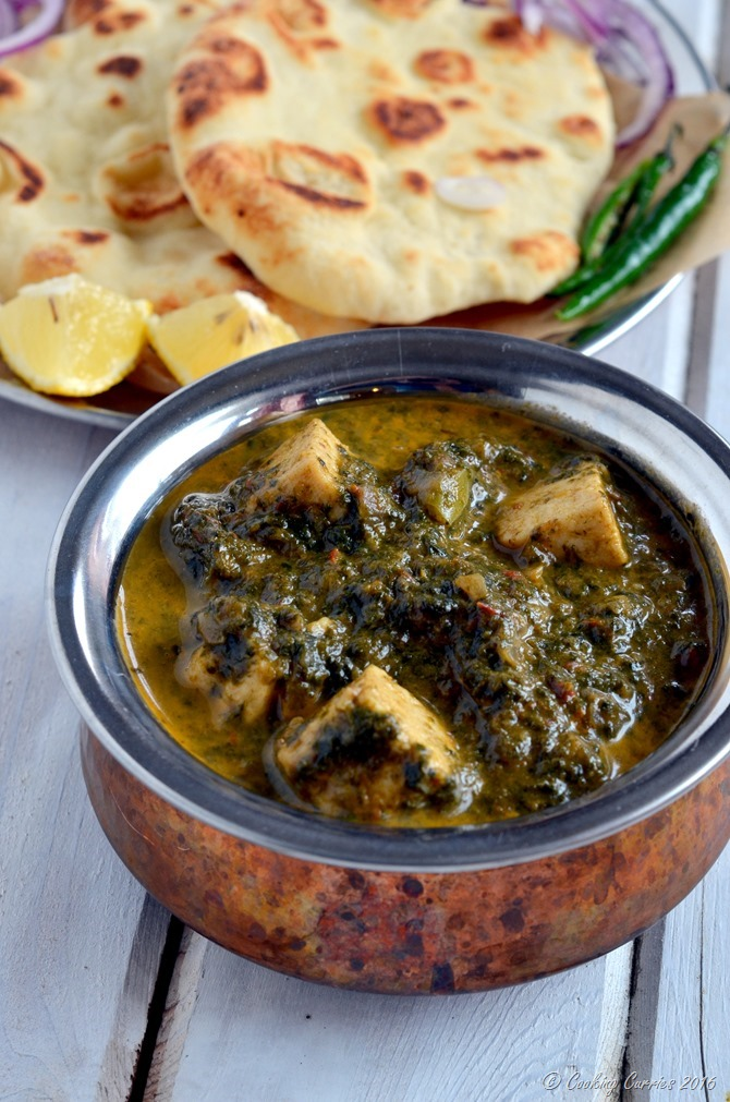 Palak Paneer - Paneer in a mildly spiced Spinach sauce - vegetarian, gluten free - Cooking Curries (3)