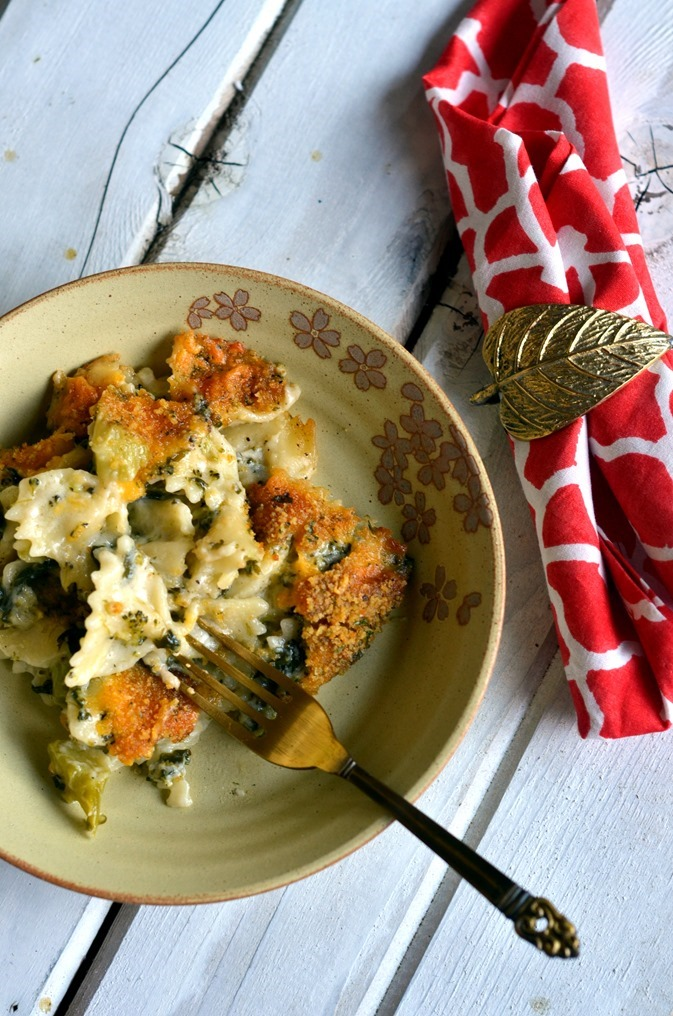 Spinach Broccoli Pasta Casserole - A delicious weeknight dinner recipe - Vegetarian Pasta Recipe (2)