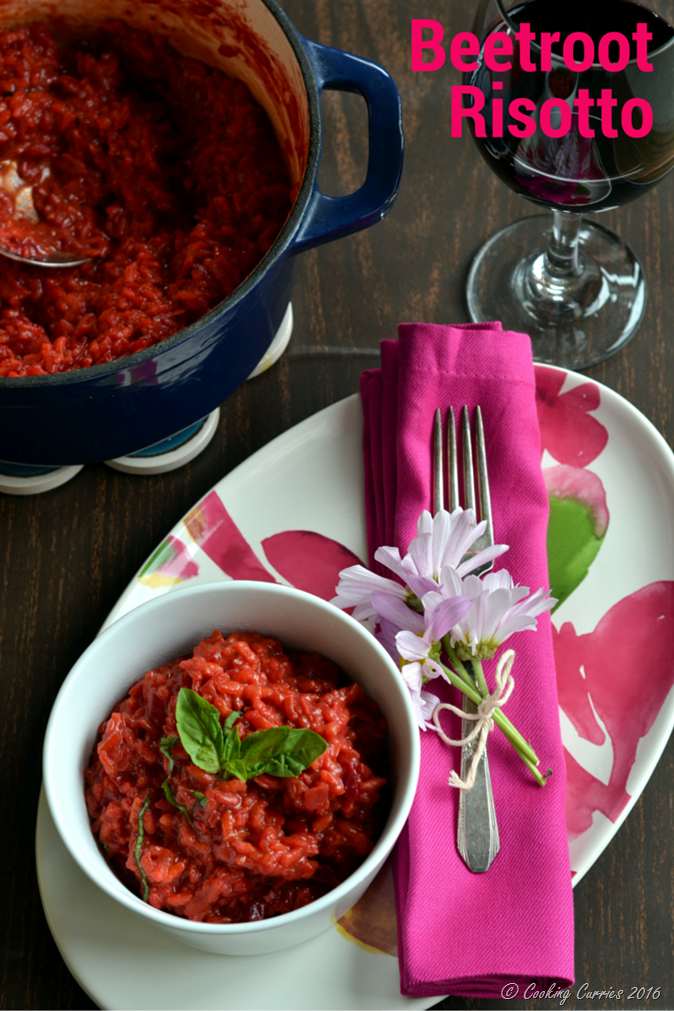 Beetroot Risotto Beet Risotto - Vegetarian, Gluten Free - Cooking Curries