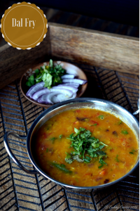 Dal Fry ~ Spiced Pigeon Pea Lentils Stew