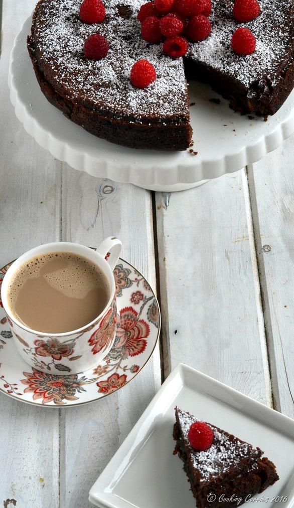 Flourless Chocolate Almond Torte - Cooking Curries - Gluten Free Vegetarian Dessert (2)