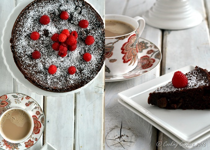 Flourless Chocolate Almond Torte - Cooking Curries - Gluten Free Vegetarian Dessert