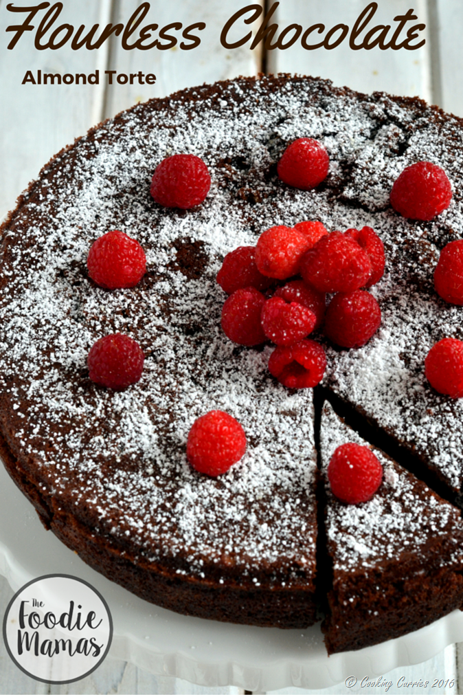 Flourless Chocolate Almond Torte | FoodieMamas - Cooking Curries