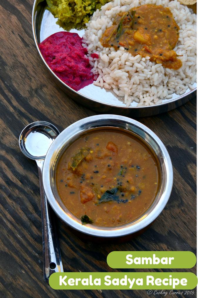 Varuthu Aracha Sambar - Kerala Sadya Recipes Onam Vishu