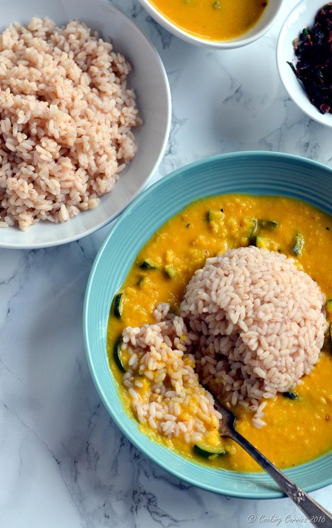 Zucchini Koottu - Zucchini Dal - Zucchini in Mung Dal and Coconut Sauce - Vegetarian , Vegan, Gluten Free (2)