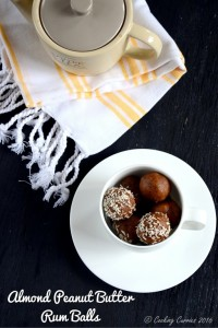 Almond Peanut Butter Rum Balls & A Kid Friendly Version of It