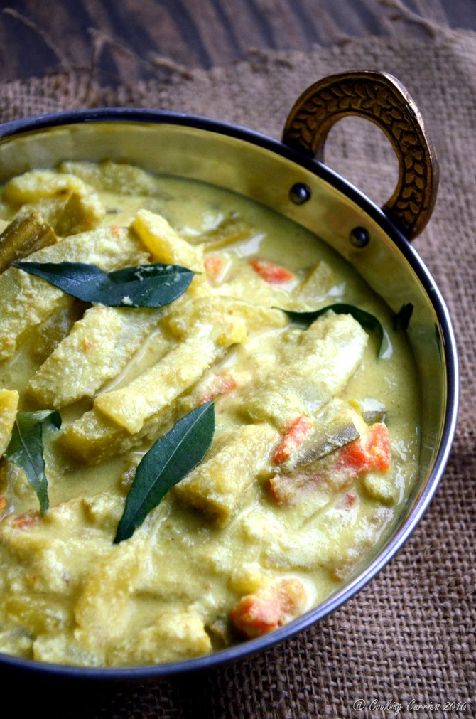 Avial - Kerala Mixed Vegetable Curry with Coconut and Yogurt Sauce - A Kerala Sadya Recipe - Vegetarian, Gluten Free - www.cookingcurries.com (4)