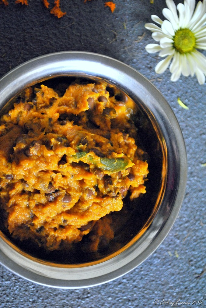 Mathan Erissery - Pumpkin Erissery- Pumpkin and Red Beans with Coconut and Spices - Kerala Sadya Recipe - Onam, Vishu Sadya - www.cookingcurries.com (2)