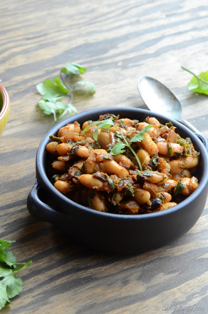 Red Chard and Cannellini Bean Saute - Vegan, Gluten Free - www.cookingcurries.com (3)