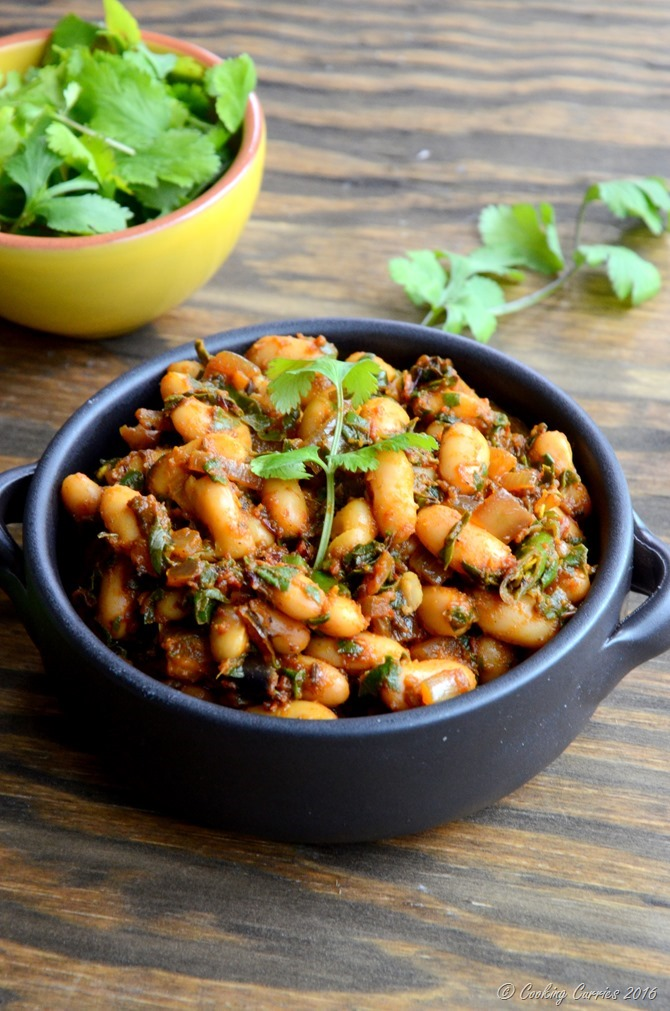 Red Chard and Cannellini Bean Saute - Vegan, Gluten Free - www.cookingcurries.com (4)
