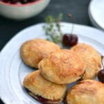 Cherry Thyme Puff Pastry Hand Pies - www.cookingcurries.com
