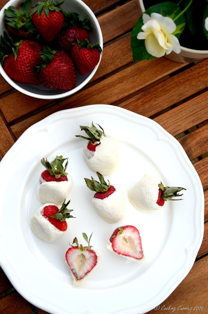 Frozen Yogurt Covered Strawberries - Little People Food - Toddler Food Recipes - www.cookingcurries.com