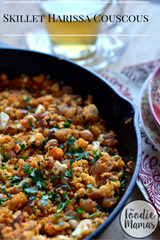 Skillet Harissa Couscous with Chickpeas, Spinach and Feta - Cooking Curries