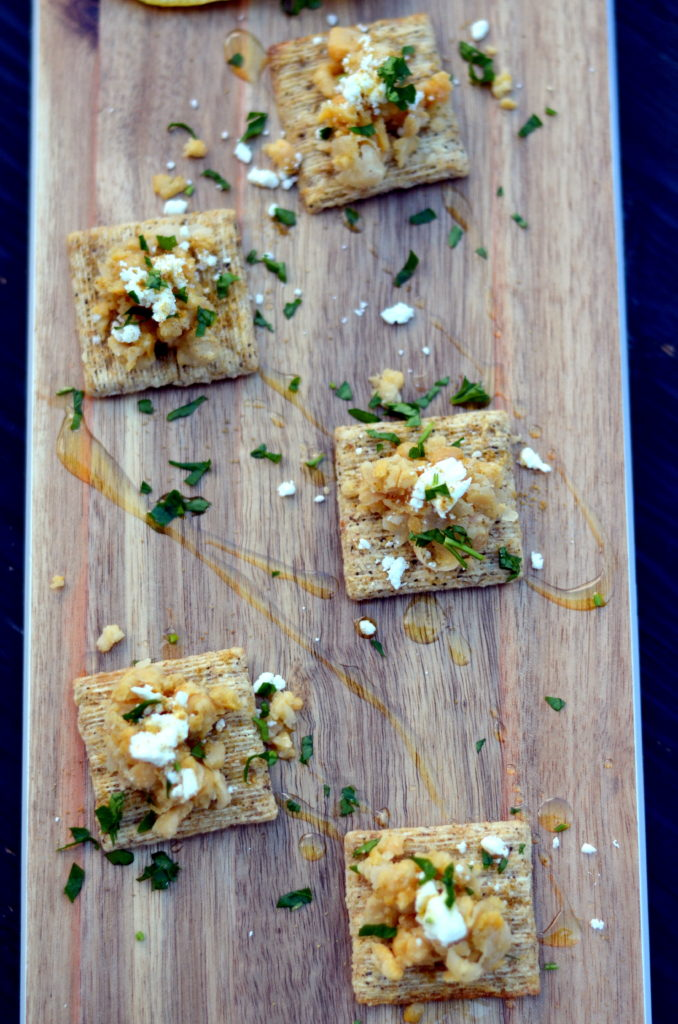 Smashed Chickpea, Feta and Lemon TRISCUIT