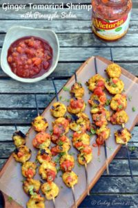 Ginger Tamarind Shrimp with Pineapple Salsa