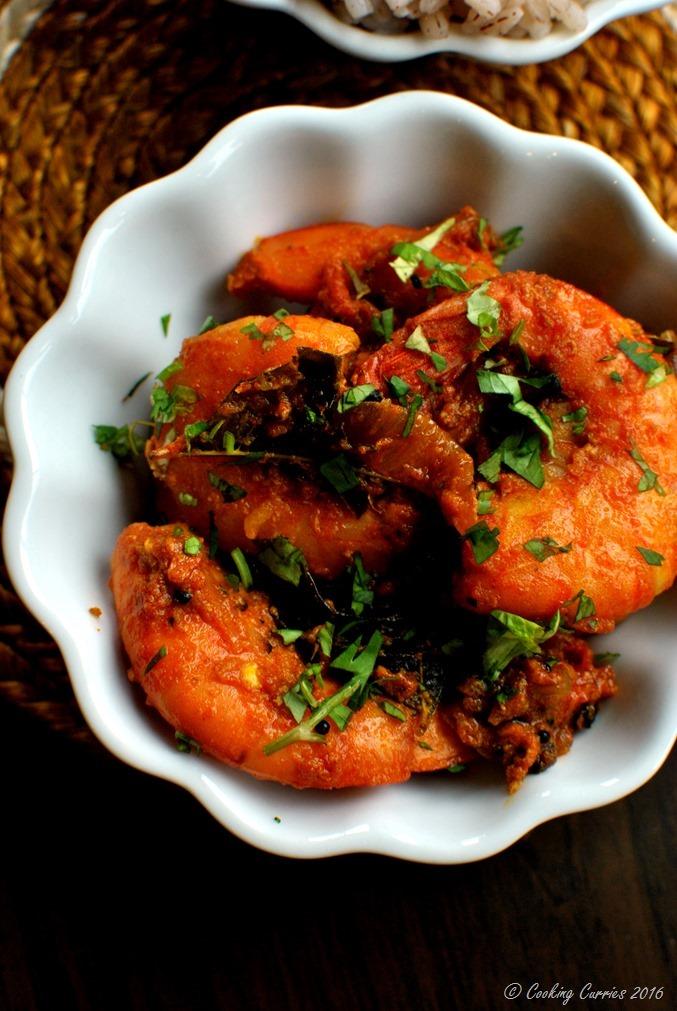 Nadan Prawns Masala Roast - Kerala Style Shrimp Masala Roast - www.cookingcurries.com- (3)