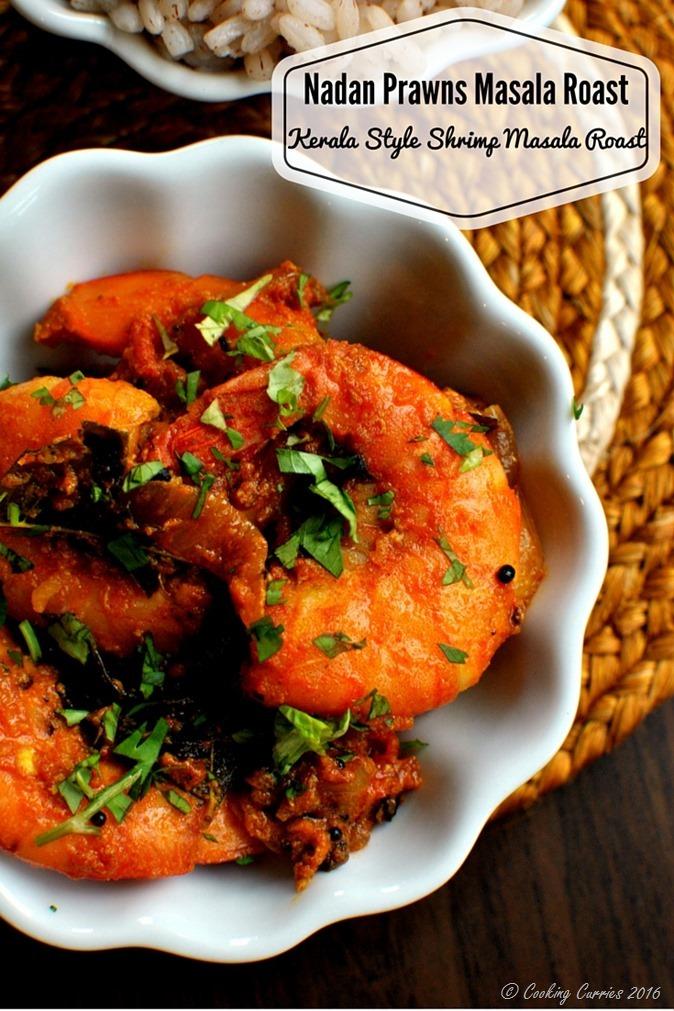 Nadan Prawns Masala Roast - Kerala Style Shrimp Masala Roast - www.cookingcurries.com-