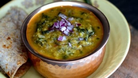 Dal Palak - Spinach with Moong Dal- Vegan   Gluten Free