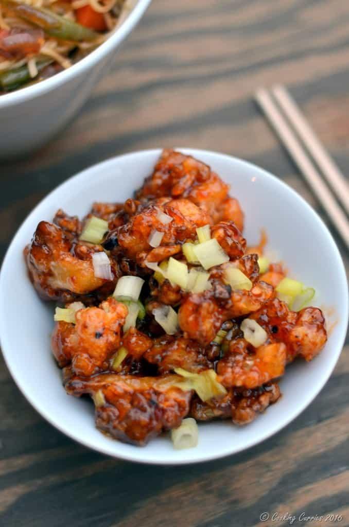 General Tso's Cauliflower - Crispy Cauliflower in a Sweet Chili Sauce - Vegan , Gluten Free - www.cookingcurries.com (2)