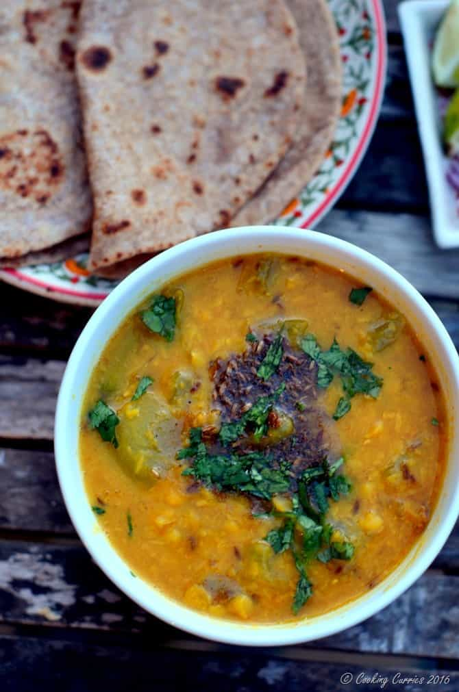 Lauki Chana Dal - Bottle Gourd Chana Dal - Vegan, Vegetarian, Gluten Free - www.cookingcurries.com (4)