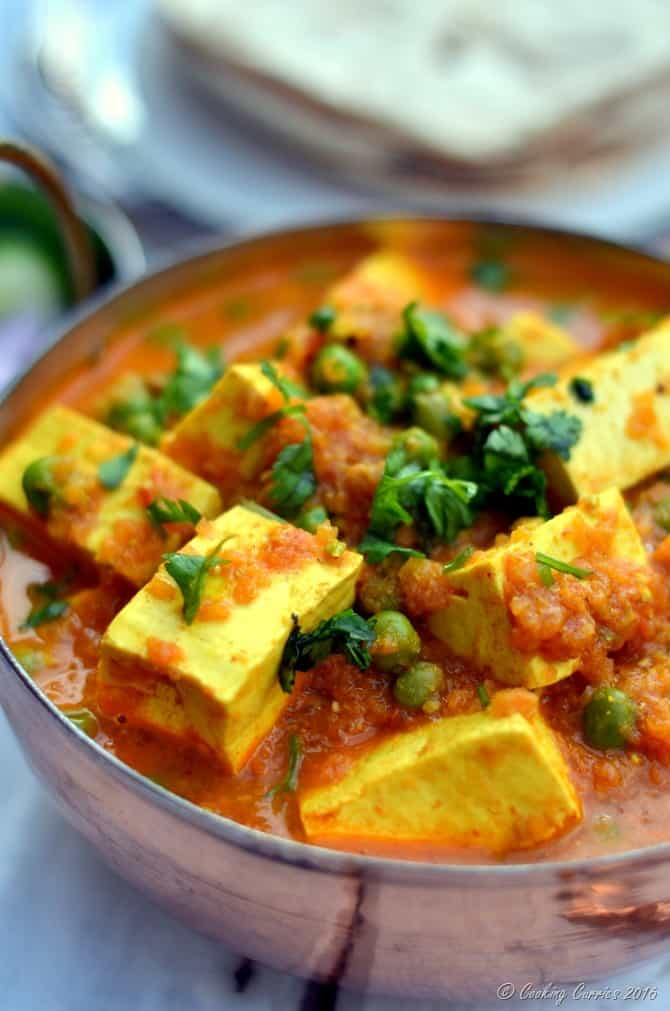 Matar Paneer - Paneer and Green Peas in a Spiced Tomato Sauce - www.cookingcurries.com (4)