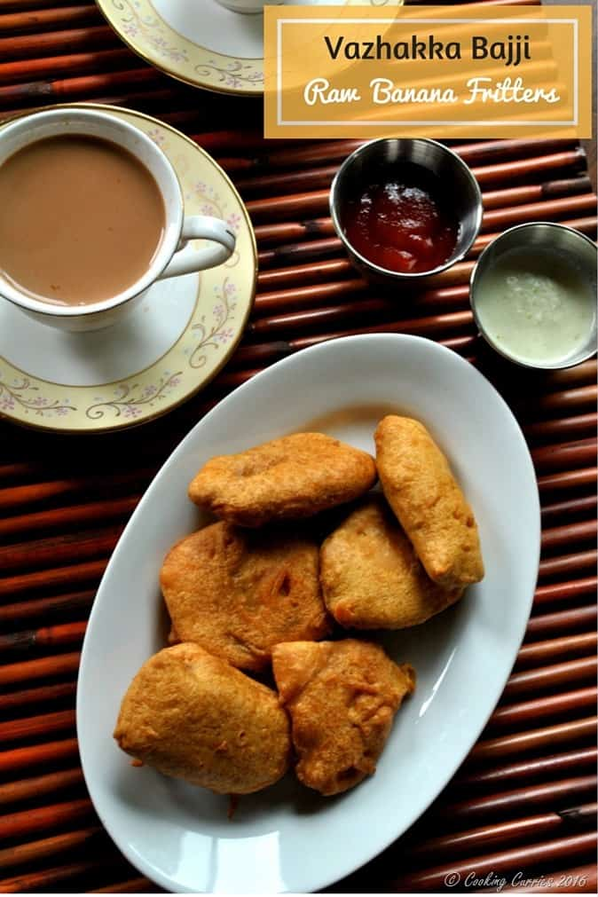 Vazhakka Bajji - Raw Banana Fritters - Vegan and Gluten Free - www.cookingcurries.com