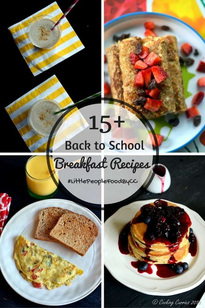 15 Back to School Breakfast Recipes - www.cookingcurries.com