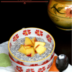 No Cook Overnight Oatmeal, Chia and Hemp Pudding with Fresh Peaches -Cooking Curries