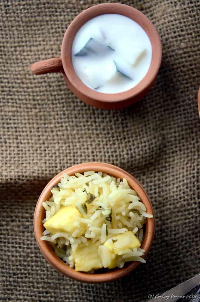 Paneer Methi Pulao - Vegan , Gluten Free - Indian Recipe - www.cookingcurries.com (2)