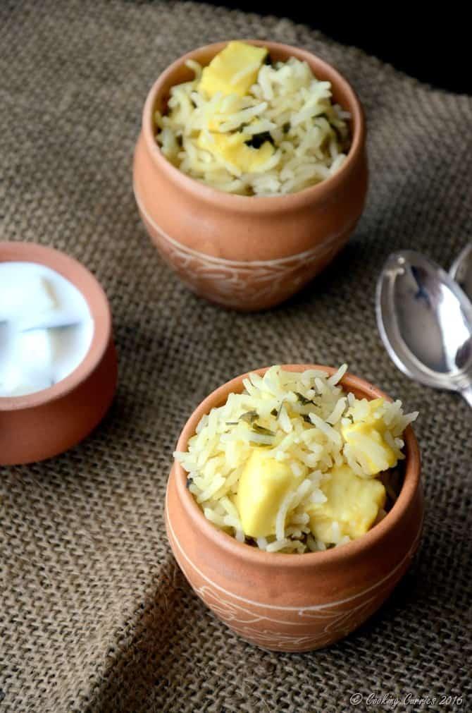 Paneer Methi Pulao - Vegan , Gluten Free - Indian Recipe - www.cookingcurries.com (3)