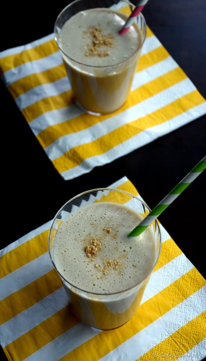Peanut Butter, Banana and Oat Milk Smoothie - Little People Food By CC - Vegan Vegetarian Gluten Free - www.cookingcurries.com (2)