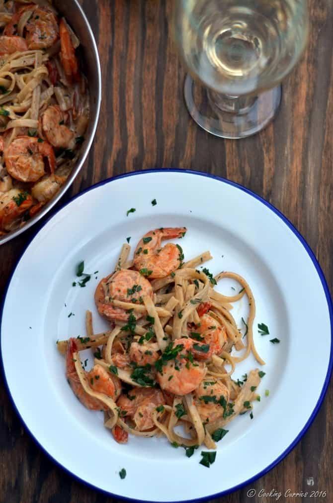 Cajun Shrimp Fettuccine - Easy Weeknight Dinner - www.cookingcurries.com (4)